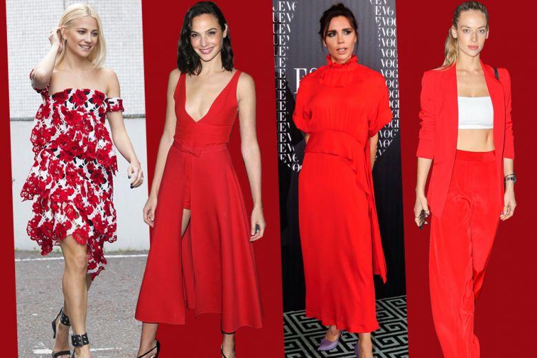 Rosso: come lo indossano le celeb