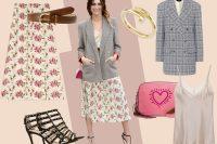 """Miriam Leone e la """"combo"""" perfetta: blazer maschile e gonna a fiori"""
