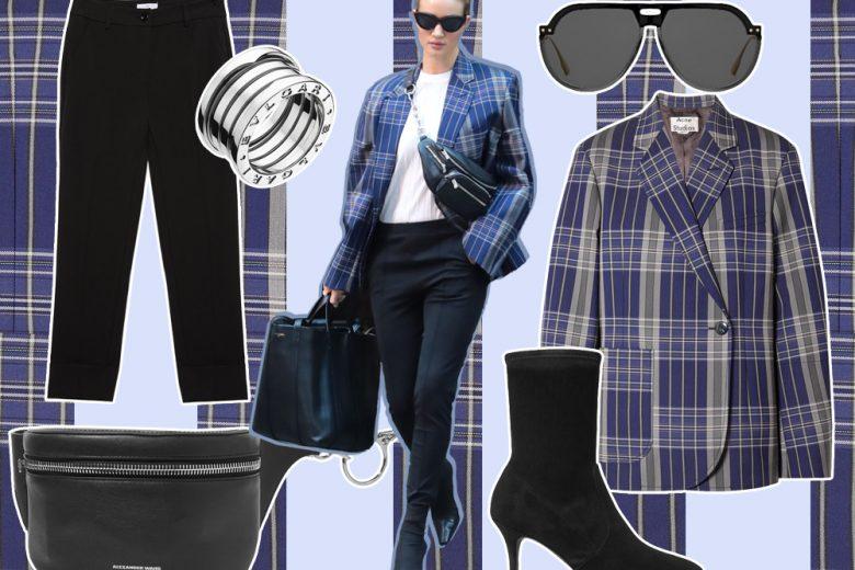 Come indossare il blazer check: seguite l'esempio di Rosie Huntington-Whiteley
