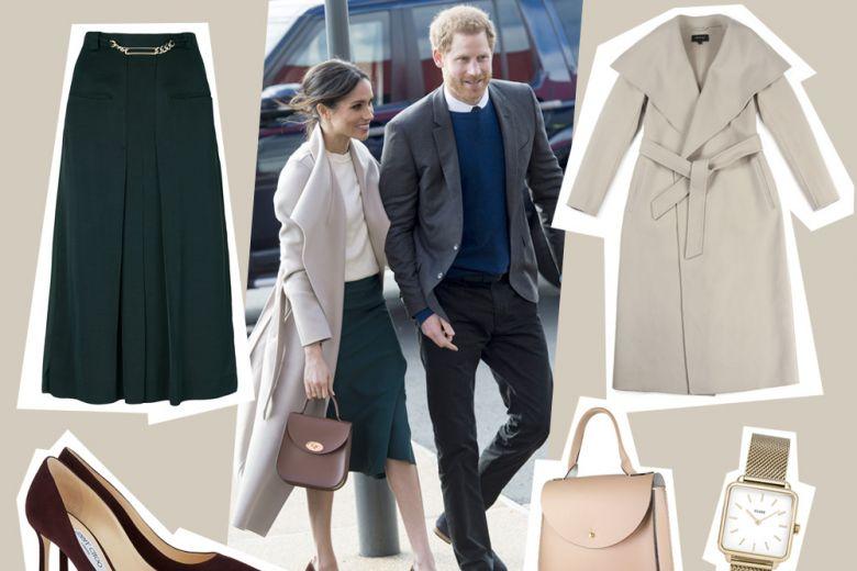 Bon ton con il cappotto avorio come Meghan Markle: get the look!