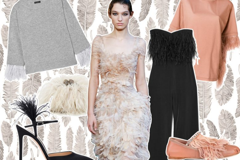 Feather mania: le piume sono protagoniste della moda di primavera