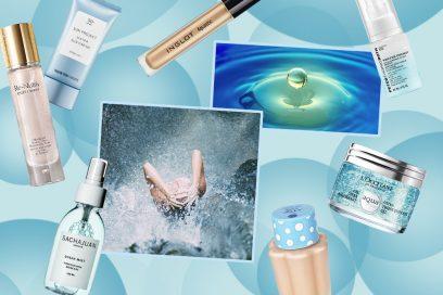 Focus pelle (super) idratata: i prodotti di bellezza a base d'acqua