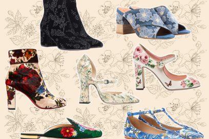 Le scarpe più romantiche di stagione? Sono a fiori, of course!
