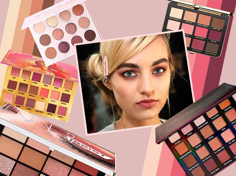 Le palette dai colori caldi e rosati sono la tendenza beauty del momento