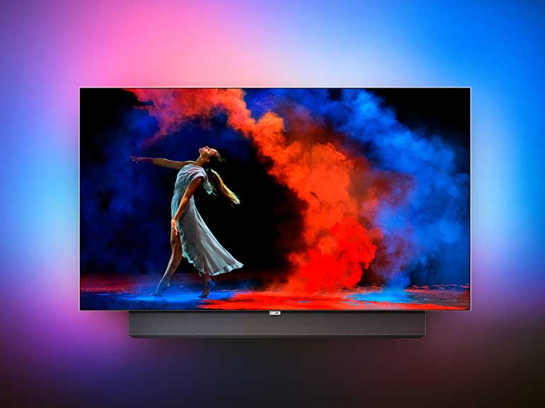 PHILIPS TV OLED 973 nuovo modello tv ultrasottile connesso google assistant smart tv