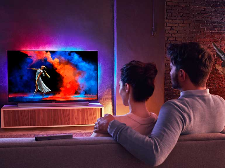 PHILIPS TV OLED 973 nuovo modello tv ultrasottile connesso smart tv google assistant maggiordomo virtuale