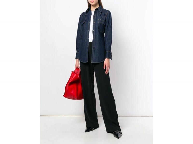 camicia-in-jeans-calvin-klein-farfetch