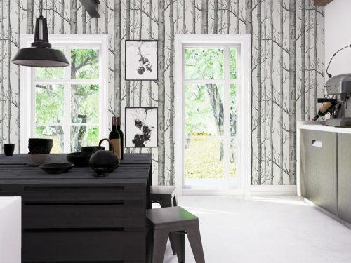 8 idee originali per decorare la cucina con la carta da parati ...