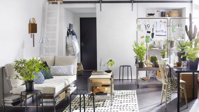 Mobili Divisori Per Soggiorno Ikea.10 Idee Per Arredare Un Monolocale Con Ikea Grazia It