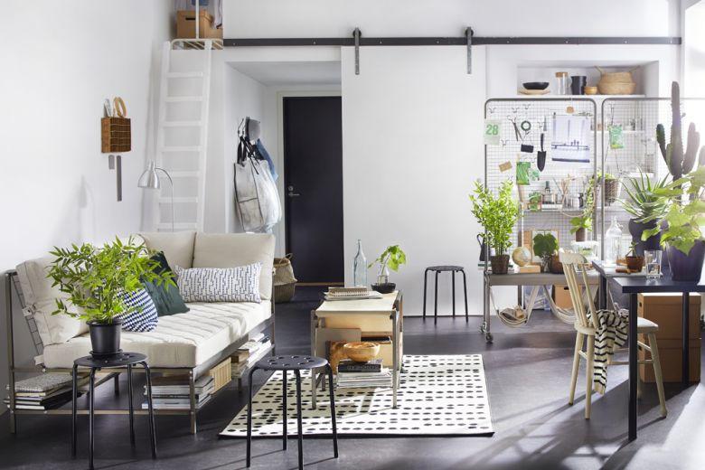 10 Idee per arredare un monolocale con IKEA