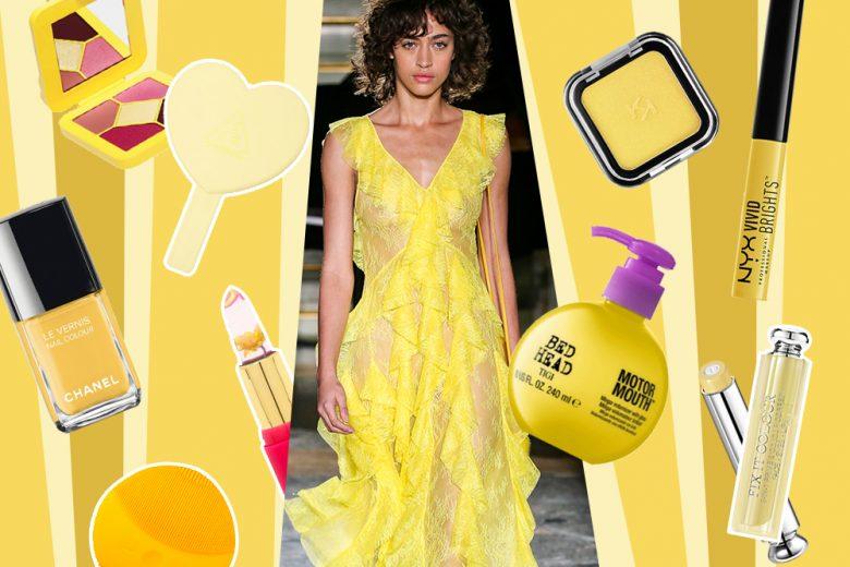 Make up giallo: i prodotti di bellezza più allegri e cool da provare adesso