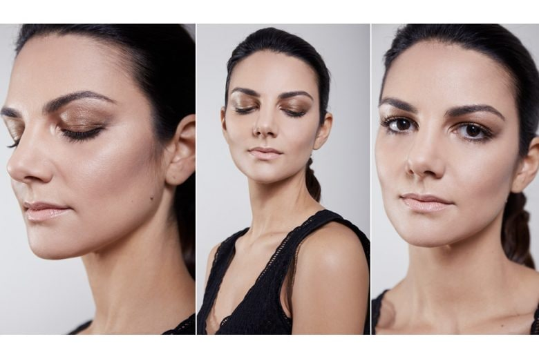 From backstage to beautycase: lo smokey eyes metallico di Giorgio Armani interpretato da Claudia Ciocca