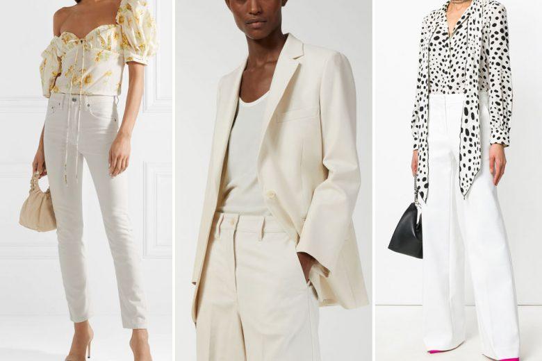"""Come abbinare i pantaloni bianchi: i consigli di styling da vera """"pro"""""""