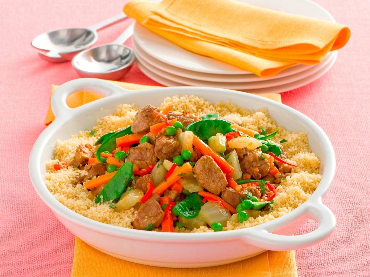 Cous cous di carne con verdure