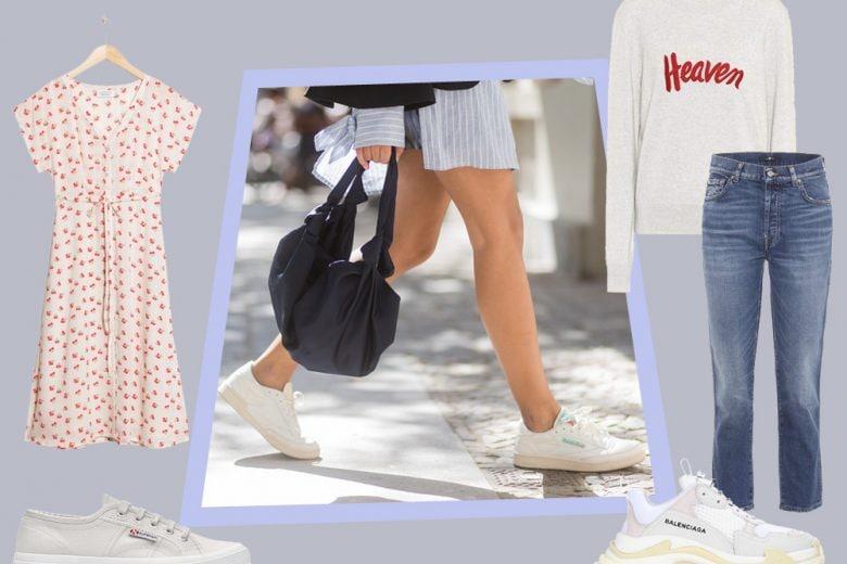 Come indossare le sneakers bianche: 6 abbinamenti da copiare questa primavera