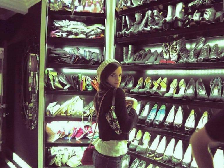 Emma Watson cabina armadio