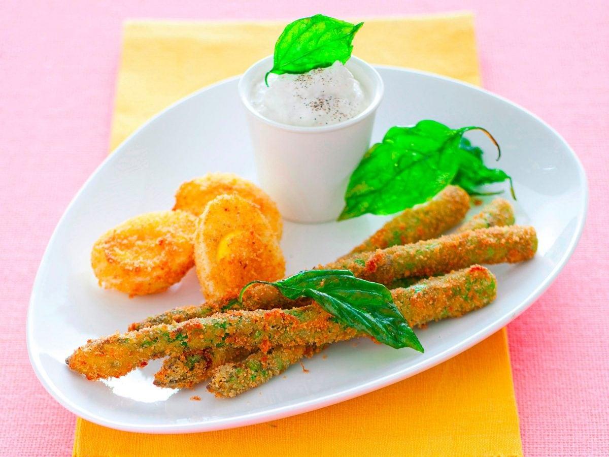 Fritto misto di asparagi e uova