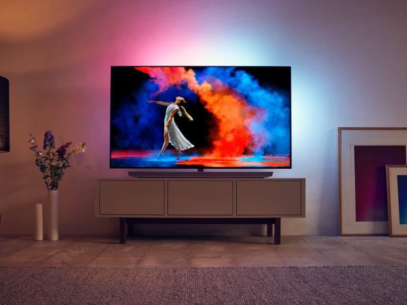 Regole da seguire per posizionare correttamente il tv in salotto nuovo PHILIPS TV OLED 973 Mobile