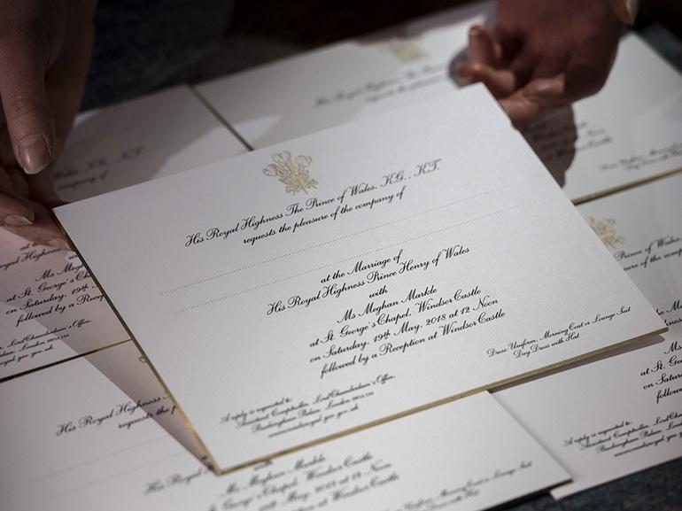 inviti matrimonio harry meghan