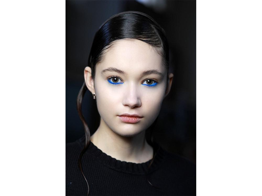 make up occhi blu kim kardashian (