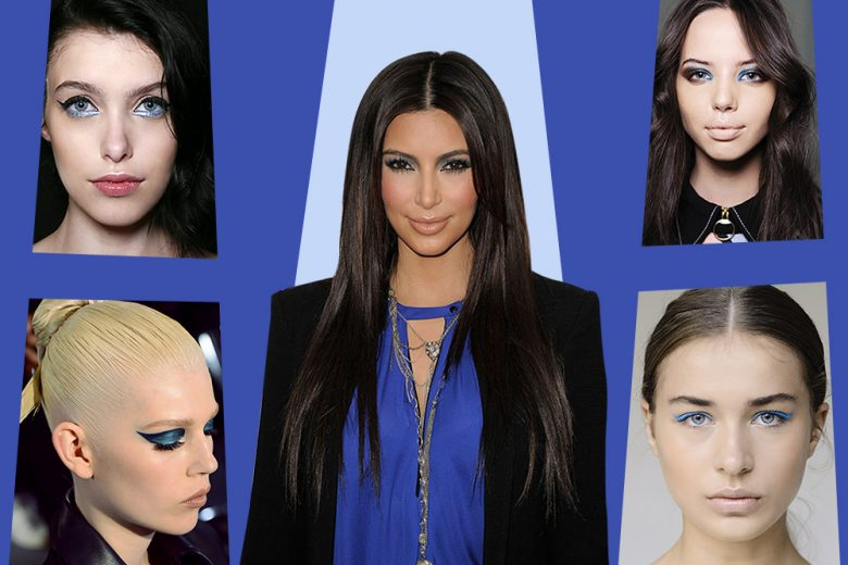 Make up occhi in blu: lo smokey eyes di Kim Kardashian da provare