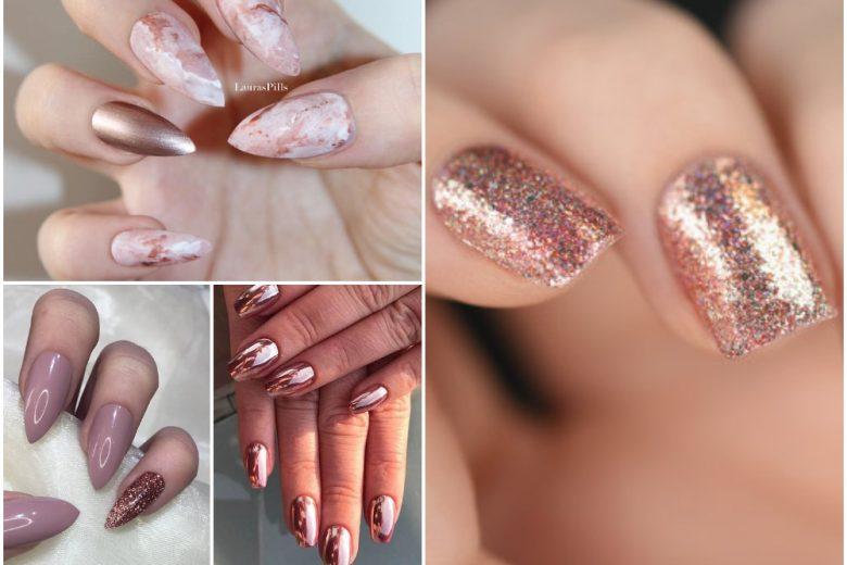 Nail art oro rosa: le unghie rose gold che vi faranno innamorare