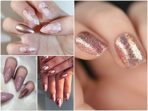 nail,art,oro,rosa,unghie,rose,gold,cover,