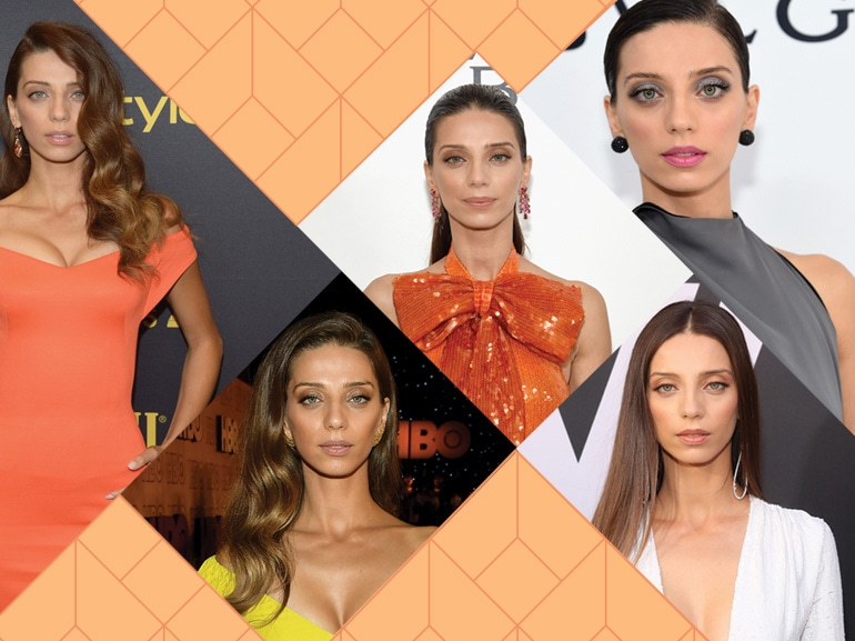 Angela Sarafyan beauty look cover mobile