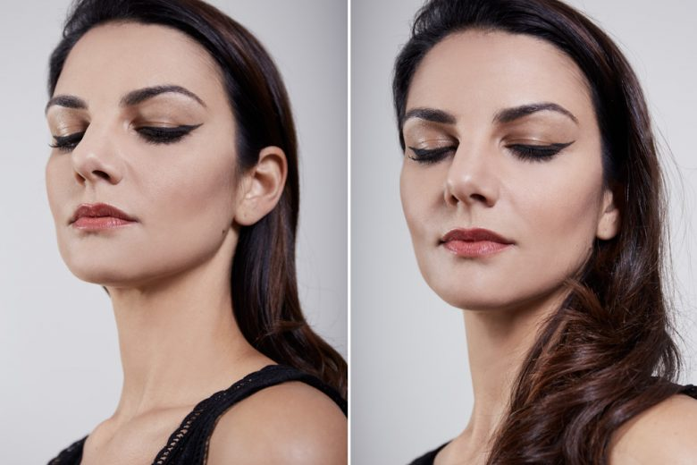 From backstage to beautycase: Claudia Ciocca interpreta il cat liner della sfilata di Alberta Ferretti