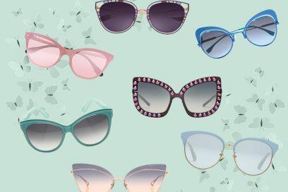 Gli occhiali da sole più chic? Sono a farfalla!