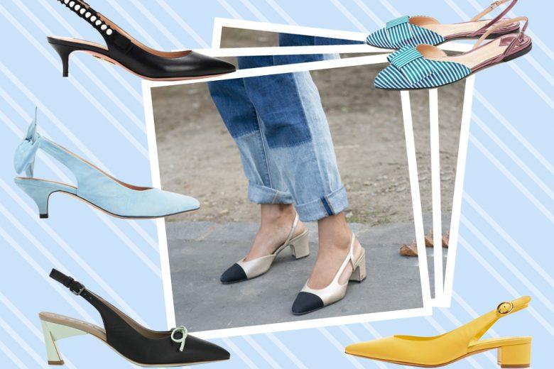 Slingback: i modelli più trendy della Primavera-Estate 2018