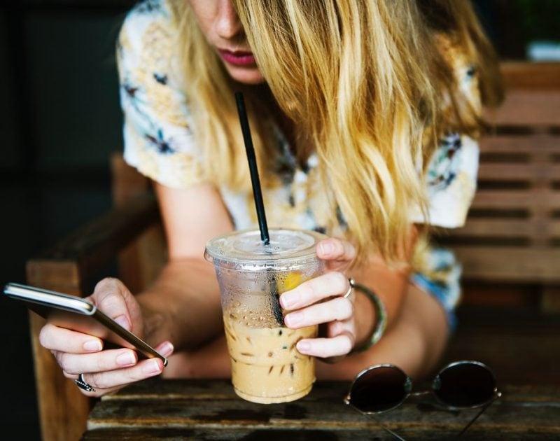 Smartphone cibo mangiare