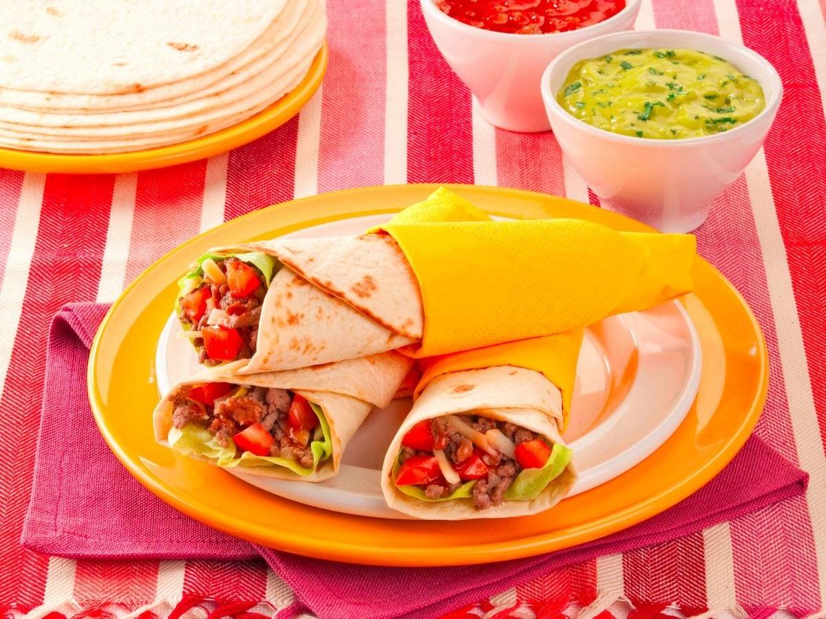 Tortillas ripiene per burrito