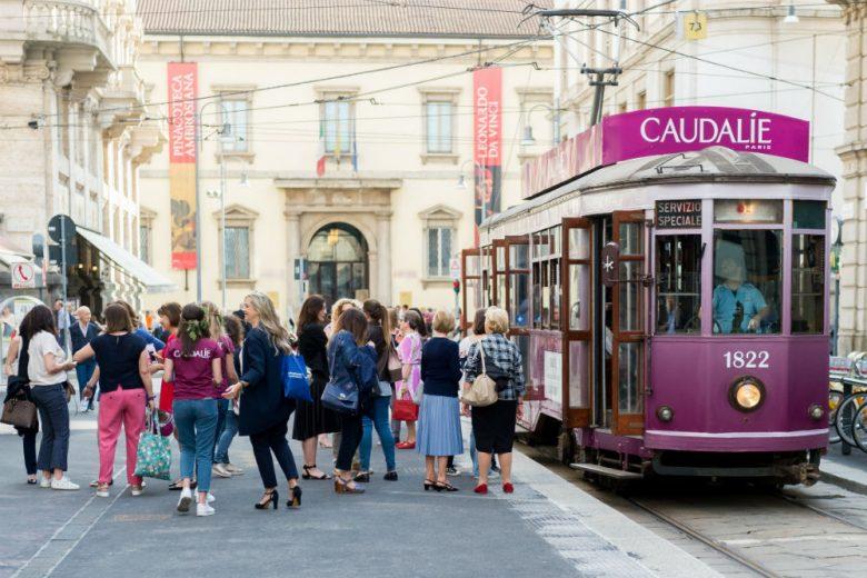 Il tram della bellezza: l'evento con Caudalie nel cuore di Milano