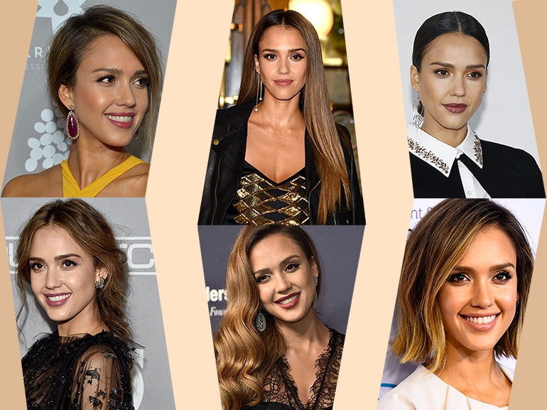 jessica alba beauty look capelli make up COVER MOBILE