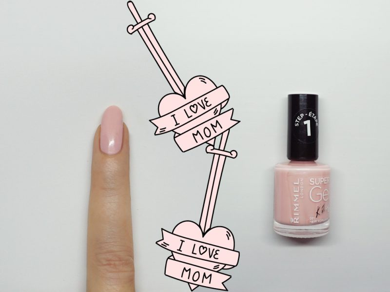 nail-art-i-love-mom-step1