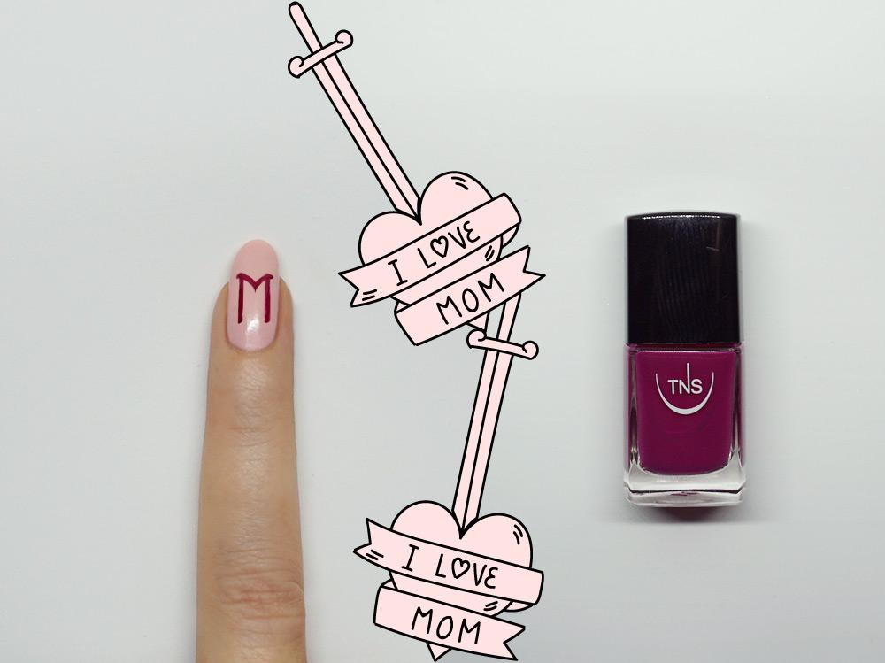 nail-art-i-love-mom-step2