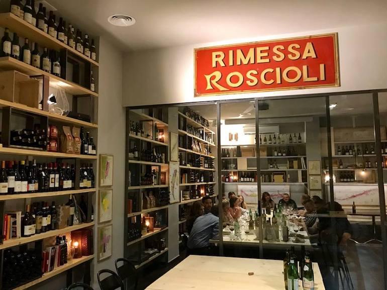 rimessa roscioli aperitivo roma