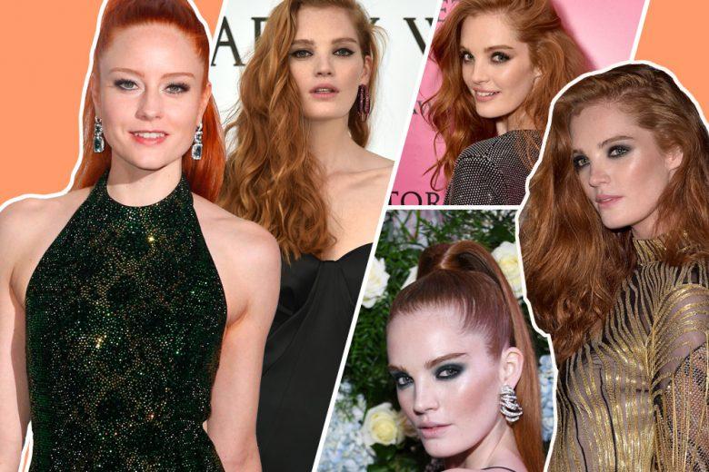 Alexina Graham: capelli rossi e make up glam, tutto sullo stile della modella