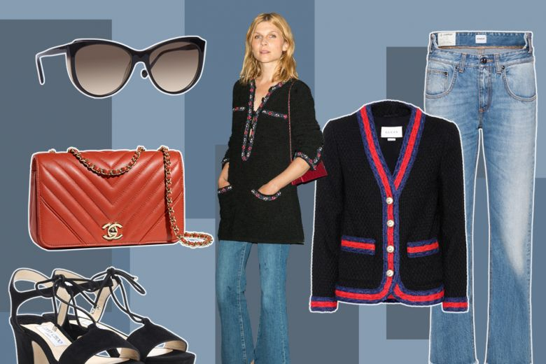 Giacca in tweed con i jeans? Provate il mix easy-chic di Clemence Poesy