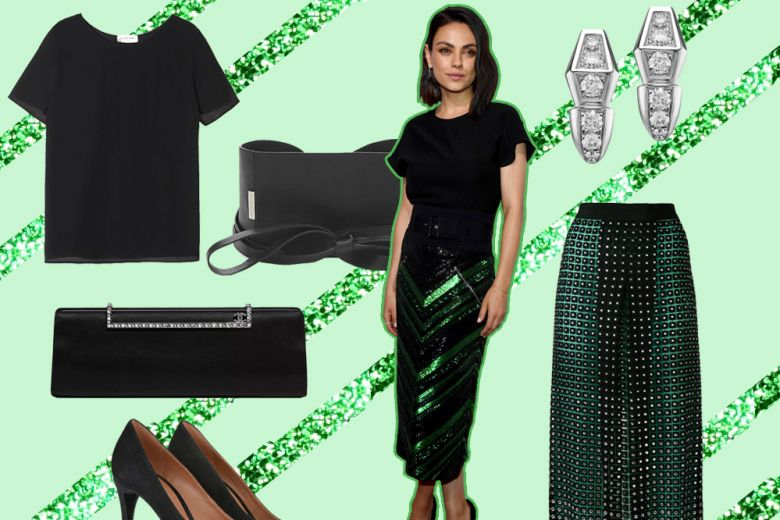 "Come ""sdrammatizzare"" la gonna di paillettes? Ispiratevi al look di Mila Kunis"