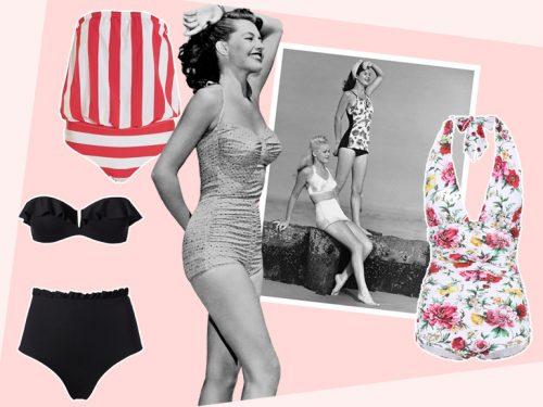 Costume Da Bagno Intero Vintage : Costumi da bagno vintage i modelli stile anni per l estate