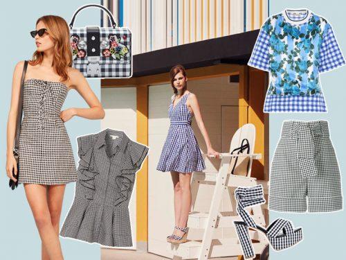 Abbigliamento A Quadretti La Stampa Vichy Su Vestiti E Accessori