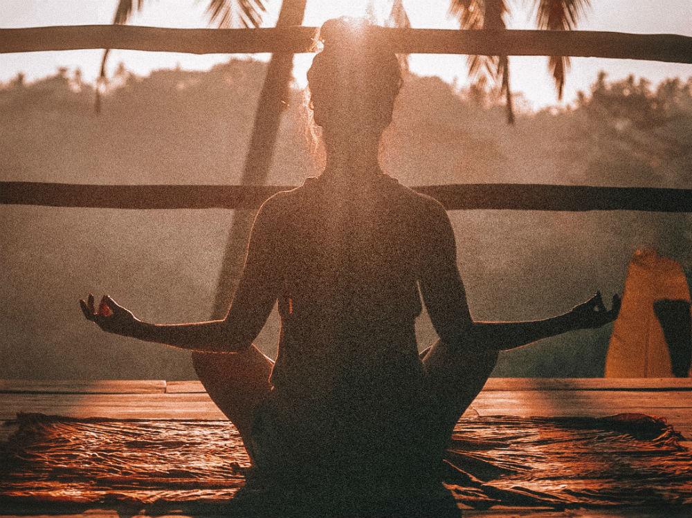 Meditazione yoga donna