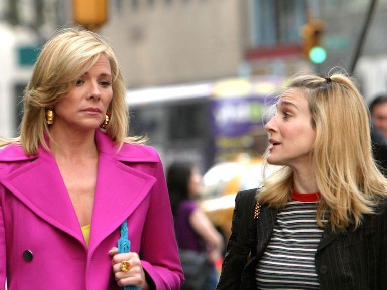 Samantha Jones cappotto rosa