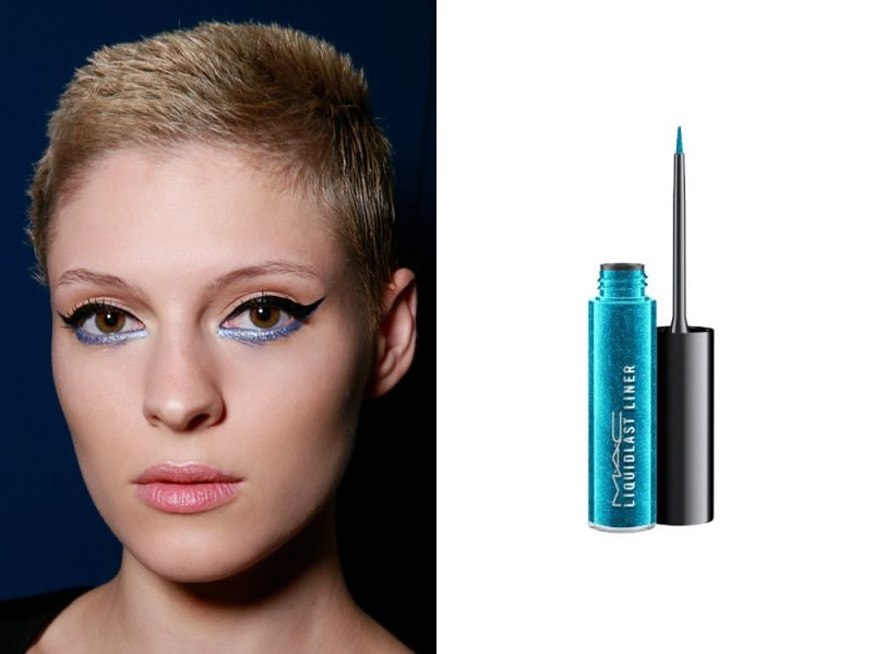 come porteremo eyeliner quest'estate azzurro