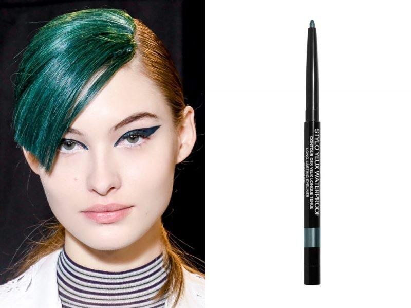 come porteremo eyeliner quest'estate verde