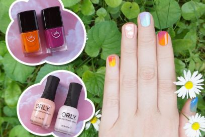 La nail art arcobaleno, un tutorial by Non solo Kawaii