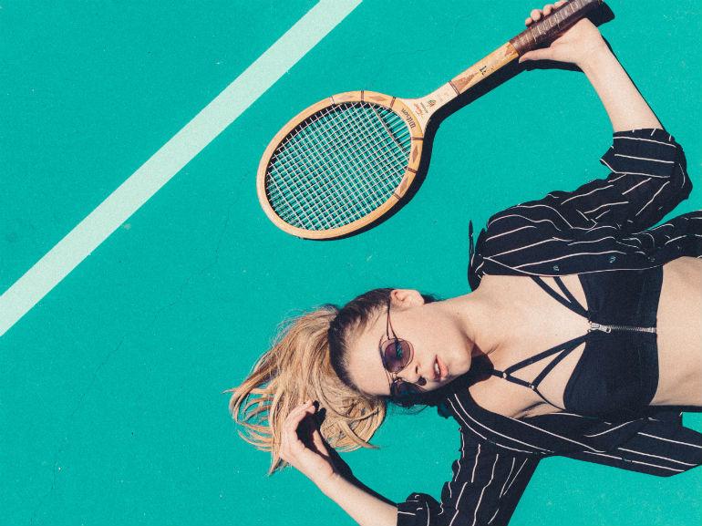 stanchezza donna tennis racchetta (mobile)