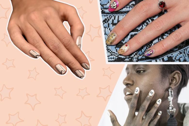 Logo nails e scritte sulle unghie: la nuova tendenza per la manicure